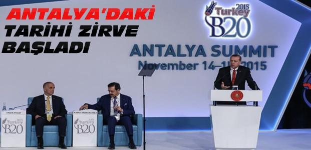 G-20 Zirvesi Erdoğan'ın Konuşmasıyla Başladı