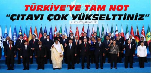 G-20 Zirvesinde Türkiye'ye Övgü Dolu Sözler