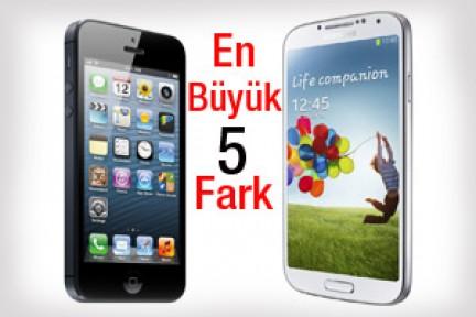 Galaxy S4'te Olup iPhone 5'te Olmayan En Önemli 5 Özellik