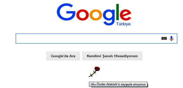 Google Atatürk'ü Unutmadı