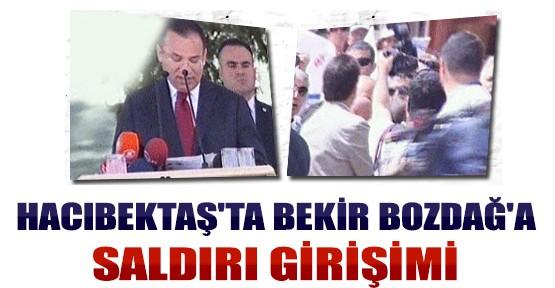 Hacıbektaş'ta Bekir Bozdağ'a Saldırı Girişimi
