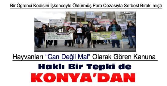 Hayvanları hiçe sayan kanun, Konya'da protesto edildi
