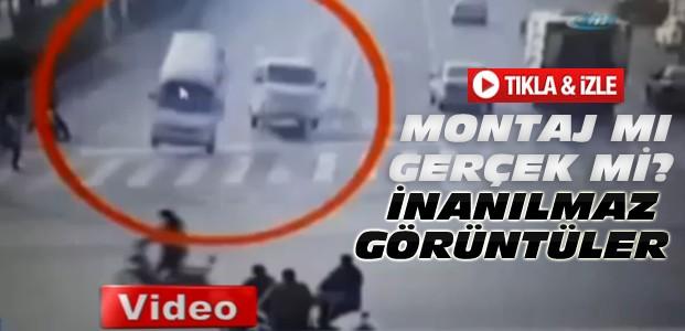 Herkesi Şaşırtan Kaza Gerçek mi-VİDEO