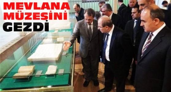 İçişleri Bakanı Mevlana Müzesini Gezdi