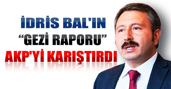 İdris Bal'ın Gezi Raporu AKP'yi Karıştırdı