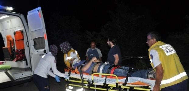 İki Otomobilin Çarpiştiği Kazada Bir Kişi Yaralandı