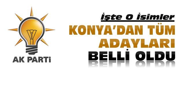 İşte Ak Parti 1 Kasım Konya Adayları