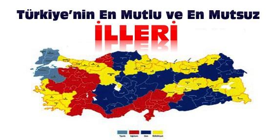 İşte Türkiye'nin en mutlu ve en mutsuz ili