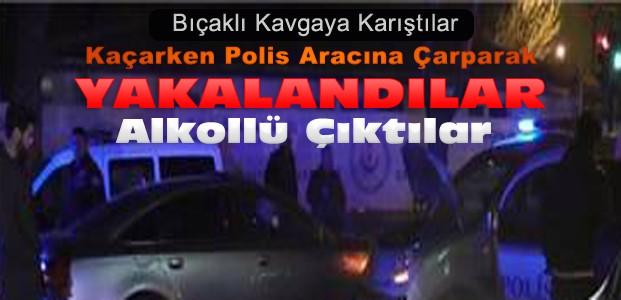 Kaçarken Polis Aracına Çarparak Yakalandılar