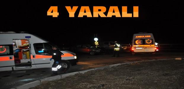 Kaza: Otomobil İle Ticari Araç Çarpıştı