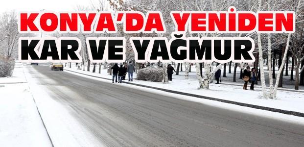 Konya için Meteorolojiden kar ve yağmur uyarısı