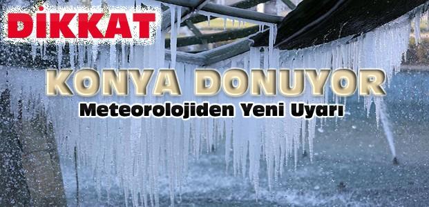 Konya İçin Meteorolojik Uyarı