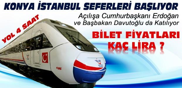 Konya İstanbul YHT Seferleri Başlıyor