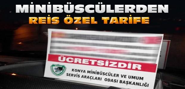Konya Minibüsçülerinden Erdoğan Jesti