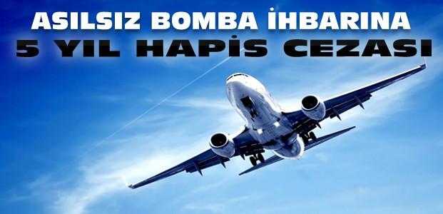 Konya uçağına bomba ihbarına hapis cezası