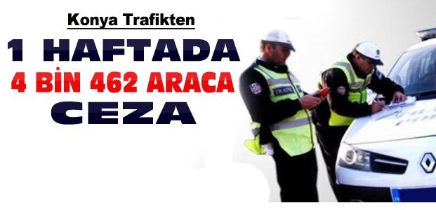 Konya'da 1 Haftada 4 Bin Araca Ceza