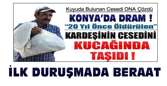 Konya'da 20 yıllık cinayete ilk duruşmada beraat