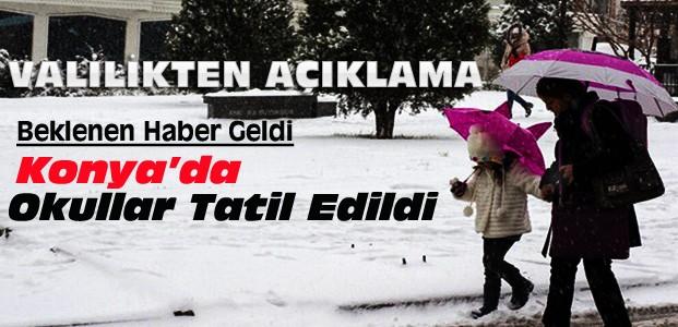 Konya'da 22 Aralık Perşembe Okullar Tatil