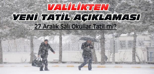 Konya'da 27 Aralık Salı Okullar Tatil