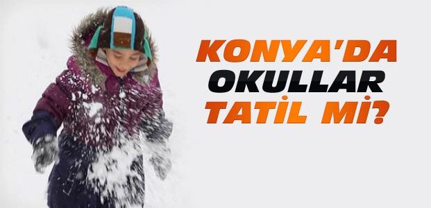 Konya'da 30 Aralık Cuma Okullar Tatil Edildi