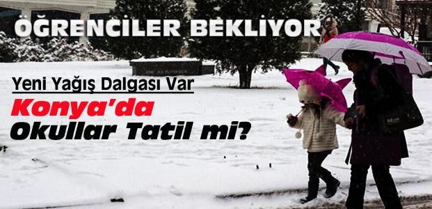 Konya'da 3 Ocak Salı Okullar Tatil Edildi