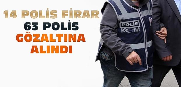 Konya'da 63 polis gözaltına alındı