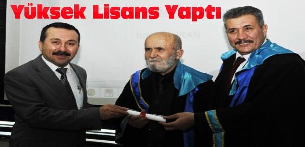 Konya'da 76 Yaşında Mezuniyet Sevinci