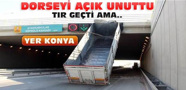 Konya'da Alt Geçitte İlginç Olay