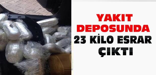 Konya'da aracın yakıt deposunda 23 kg esrar çıktı