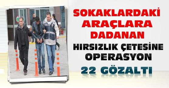 Konya'da Araçlara Dadanan Çeteye Baskın:22 Gözaltı