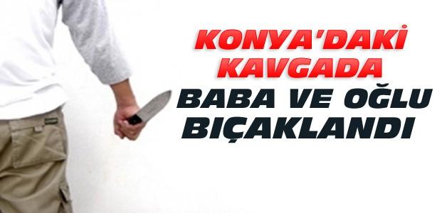 Konya'da Baca Kavgası:2 Kişi Bıçaklandı