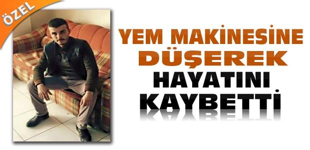 Konya'da Bir Genç Yem Makinesine Düşerek Öldü