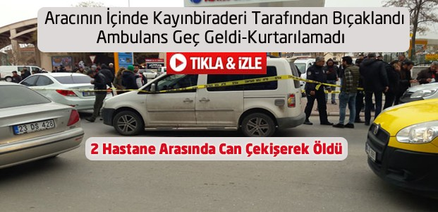 Konya'da Cinayet-Ambulans Gecikti-Vatandaş Tepki Gösterdi-VİDEO