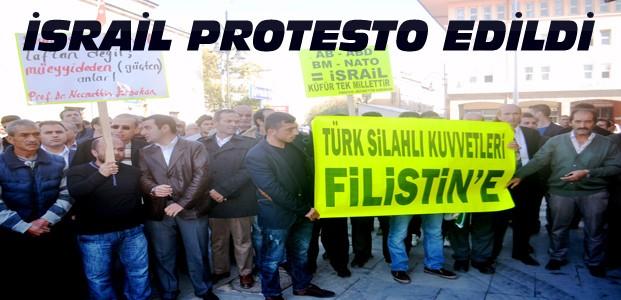 Konya'da Cuma Sonrası İsrail Protestosu