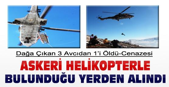 Konya'da Dağa Tırmanan 3 Avcıdan 1'i Öldü Cenazesi Helikopterle Alındı