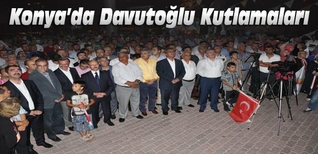Konya'da Davutoğlu Sevinci