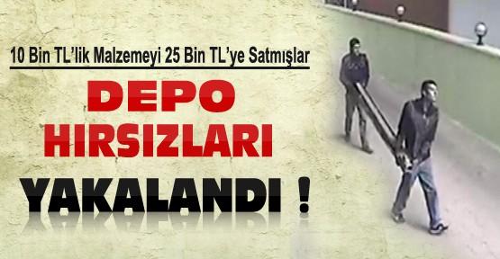 Konya'da Depodan 10 Bin TL'lik Malzeme Çalan 2 Kişi Yakalandı