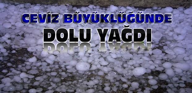 Konya'da Dolu Yağışı