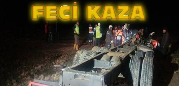 Konya'da Feci Kaza:1 Ölü 15 Yaralı