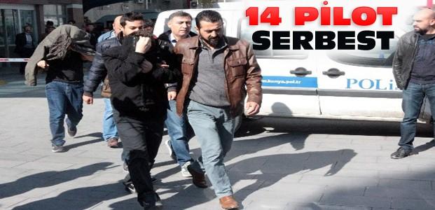 Konya'da FETÖ Operasyonları:14 Pilot Serbest