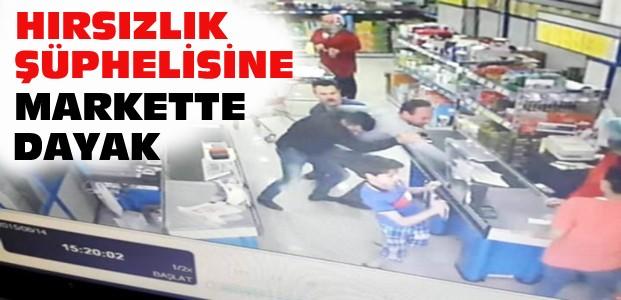 Konya'da Hırsıza Markette Çalışanlardan Dayak