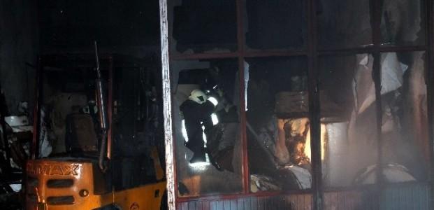 Konya'da İş Yerinde Yangın