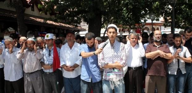 Konya'da Cuma Namazı Sonrası İsrail Protestosu