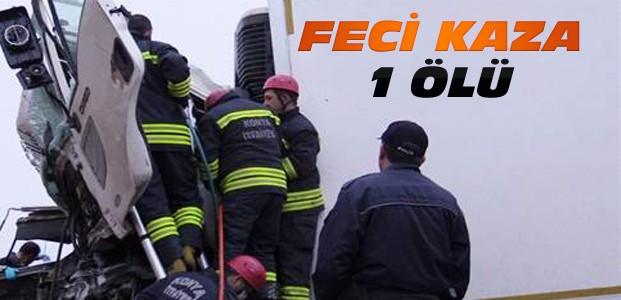 Konya'da Kamyonlar Kafa Kafaya Çarpıştı:1 Ölü