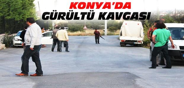 Konya'da Kavga-Tüfekle Polisin Üstüne Yürüdü