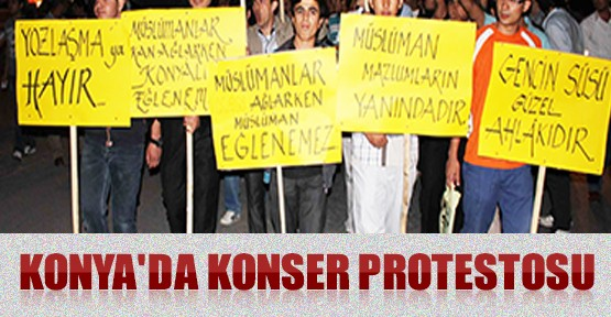 Konya'da Konser Protestosu