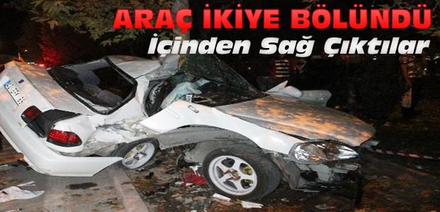 Konya'da korkunç kaza:İçinden sağ çıktılar