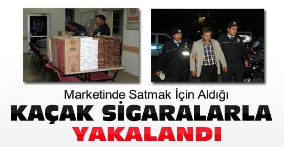 Konya'da Marketinde Satmak İçin Aldığı Kaçak Sigarayla Yakalandı