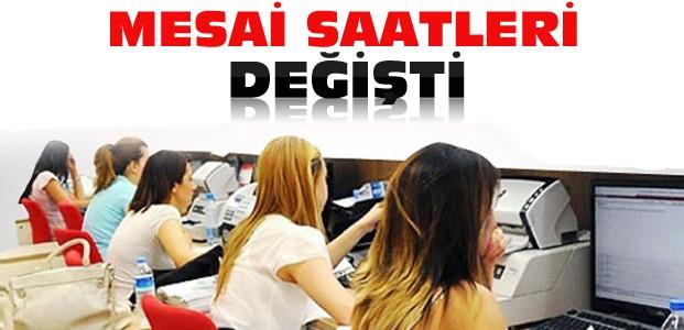 Konya'da Mesai Saatleri Değişti