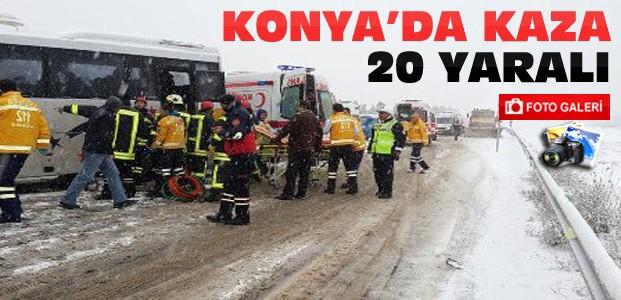 Konya'da Midibüsle TIR Çarpıştı-20 Yaralı-FOTOGALERİ